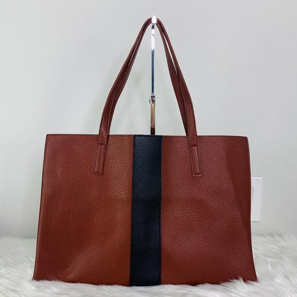 Brown Vince Camuto Faux Leather Tote Bag
